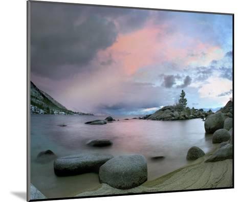 Hidden Beach at sunset, Lake Tahoe, Nevada-Tim Fitzharris-Mounted Art Print