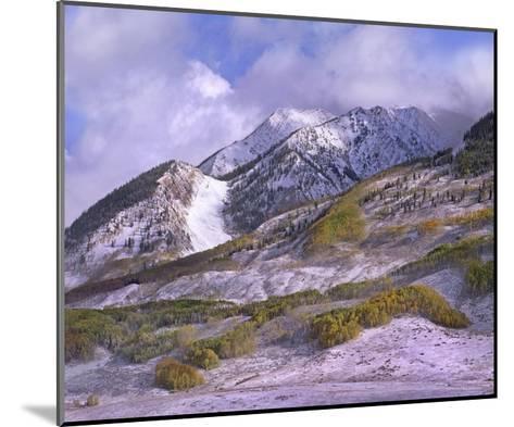 Elk Mountains with snow in autumn, Colorado-Tim Fitzharris-Mounted Art Print