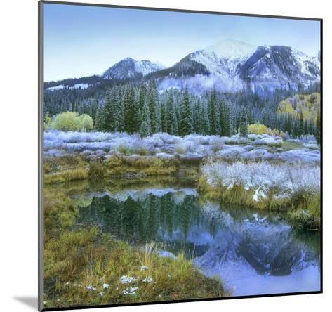 Pond and Avery Peak, San Juan Mountains, Colorado-Tim Fitzharris-Mounted Art Print