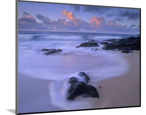 Rolling waves at dusk at Sandy Beach, Oahu, Hawaii-Tim Fitzharris-Mounted Art Print