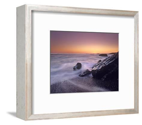 Sunset at San Simeon State Park Big Sur, California-Tim Fitzharris-Framed Art Print