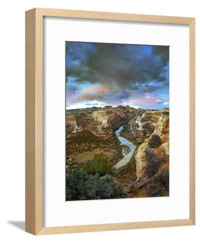 Winding Yampa River, Dinosaur National Monument, Colorado-Tim Fitzharris-Framed Art Print