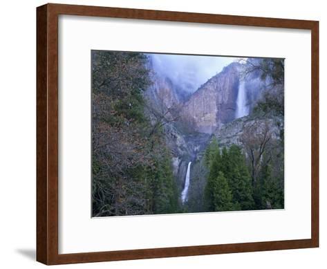 Yosemite Falls in spring, Yosemite National Park, California-Tim Fitzharris-Framed Art Print