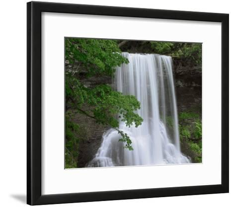 Cascading waterfall in Jefferson National Forest, Virginia-Tim Fitzharris-Framed Art Print