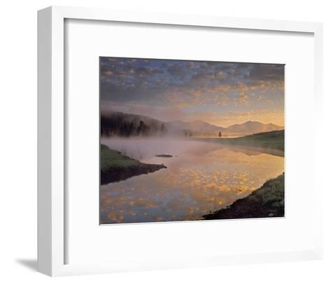 Absaroka Range from Alum Creek, Yellowstone National Park, Wyoming-Tim Fitzharris-Framed Art Print
