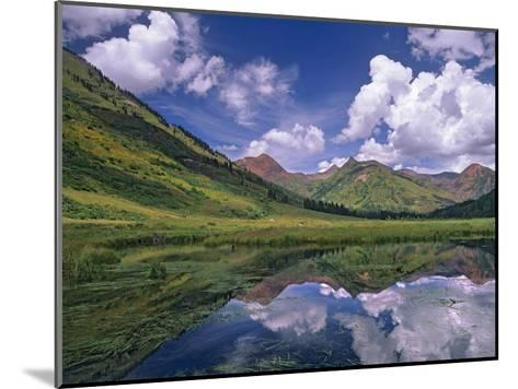Ruby Range reflected in lake Gunnison National Forest, Colorado-Tim Fitzharris-Mounted Art Print