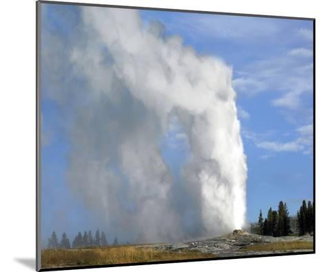 Old Faithful geyser spouting, Yellowstone National Park, Wyoming-Tim Fitzharris-Mounted Art Print