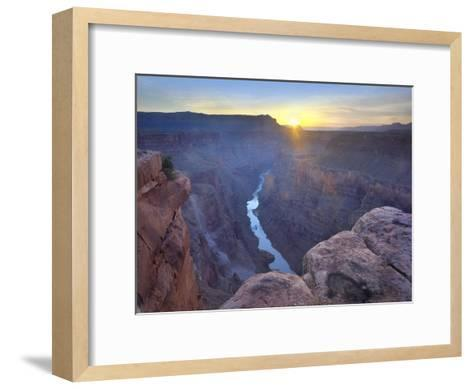Sunrise as seen from Toroweap Overlook, Grand Canyon National Park, Arizona-Tim Fitzharris-Framed Art Print