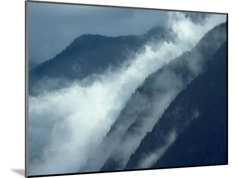 Mist rising in the Cascade Mountains near Hope, British Columbia, Canada-Tim Fitzharris-Mounted Art Print