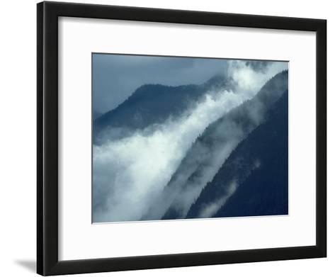 Mist rising in the Cascade Mountains near Hope, British Columbia, Canada-Tim Fitzharris-Framed Art Print