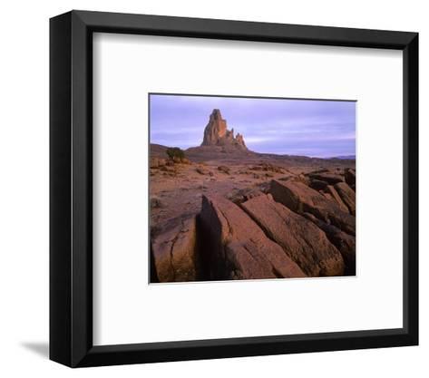 Agathla Peak, the basalt core of an extinct volcano, Monument Valley, Arizona-Tim Fitzharris-Framed Art Print
