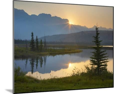 Sunset over Miette Range and Talbot Lake, Jasper National Park, Alberta, Canada-Tim Fitzharris-Mounted Art Print
