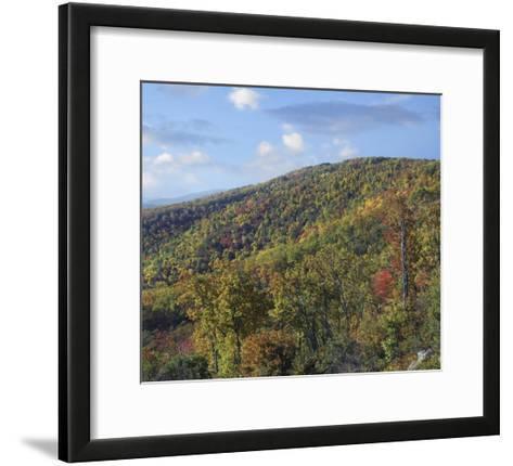 Blue Ridge Range from Moormans River Overlook, Shenandoah National Park, Virginia-Tim Fitzharris-Framed Art Print