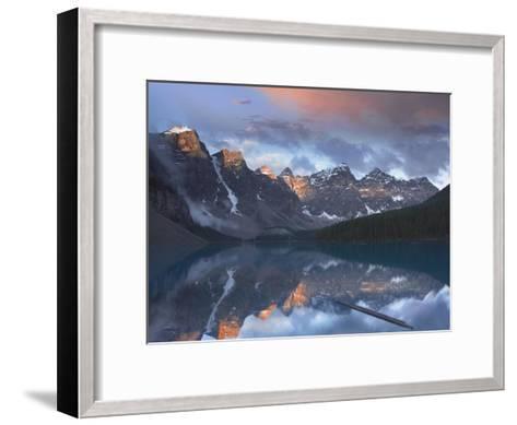 Wenkchemna Peaks reflected in Moraine Lake, Valley of Ten Peaks, Banff, Canada-Tim Fitzharris-Framed Art Print