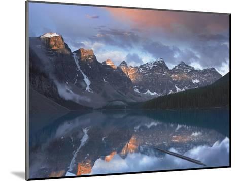 Wenkchemna Peaks reflected in Moraine Lake, Valley of Ten Peaks, Banff, Canada-Tim Fitzharris-Mounted Art Print