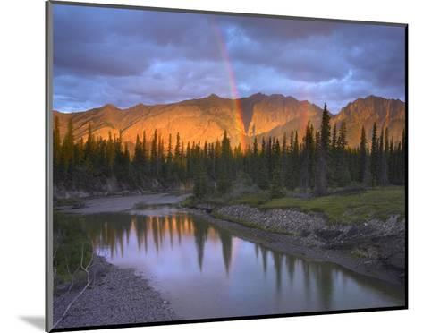 Rainbow over Fairholme Range and Exshaw Creek, Alberta, Canada-Tim Fitzharris-Mounted Art Print