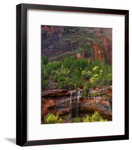 Cascades at Emerald Pools, Zion National Park, Utah-Tim Fitzharris-Framed Art Print