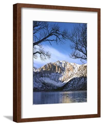 Laurel Mountain reflected in Convict Lake, eastern Sierra Nevada, California-Tim Fitzharris-Framed Art Print
