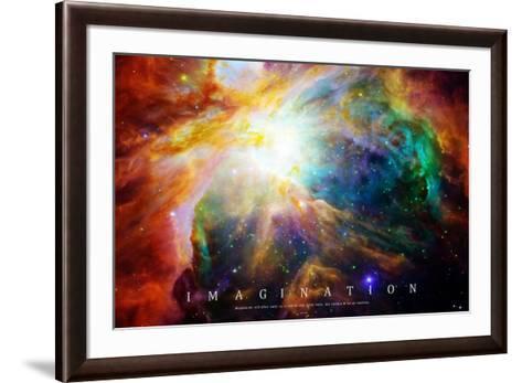 Nebula - Einstein Quote--Framed Art Print