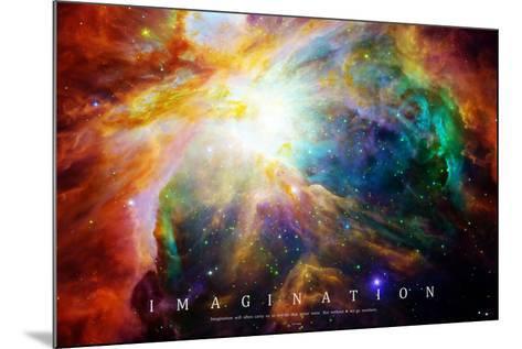 Nebula - Einstein Quote--Mounted Poster