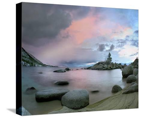 Hidden Beach at sunset, Lake Tahoe, Nevada-Tim Fitzharris-Stretched Canvas Print