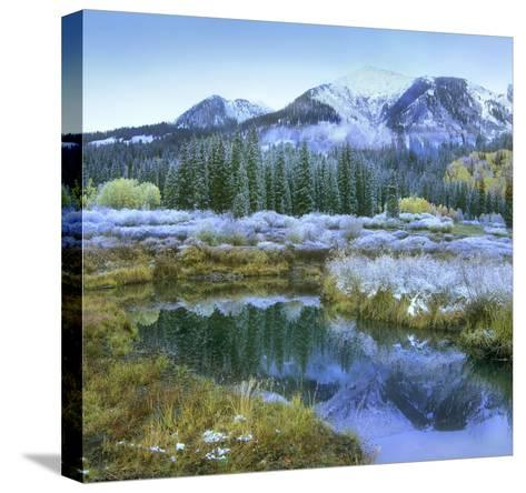 Pond and Avery Peak, San Juan Mountains, Colorado-Tim Fitzharris-Stretched Canvas Print
