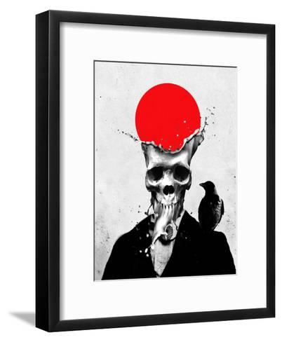 Splash Skull-Ali Gulec-Framed Art Print