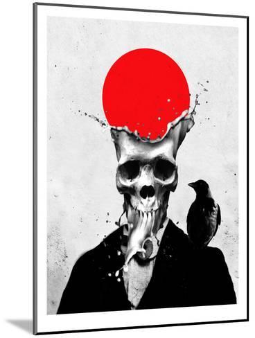 Splash Skull-Ali Gulec-Mounted Art Print