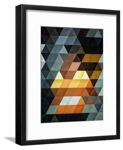 Untitled (gyld^pyrymyd)-Spires-Framed Art Print