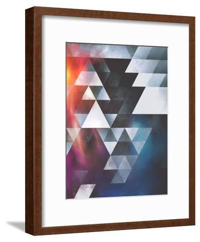 Untitled (wyy tww gryy)-Spires-Framed Art Print