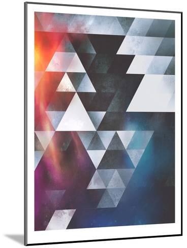 Untitled (wyy tww gryy)-Spires-Mounted Art Print