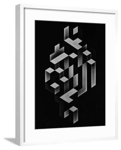 Untitled (isyhyrrt gryy)-Spires-Framed Art Print