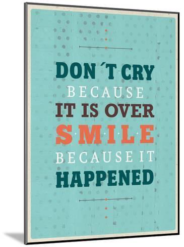 Cry Smile-Maria Hernandez-Mounted Art Print