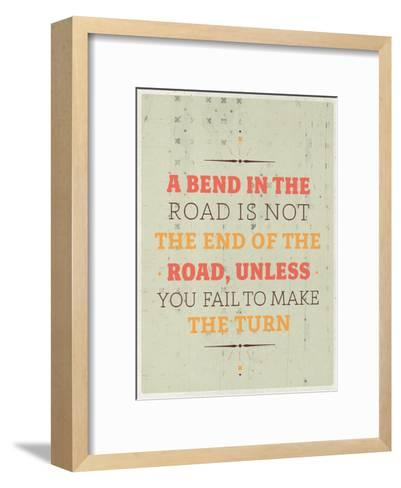 Bend in the Road-Maria Hernandez-Framed Art Print