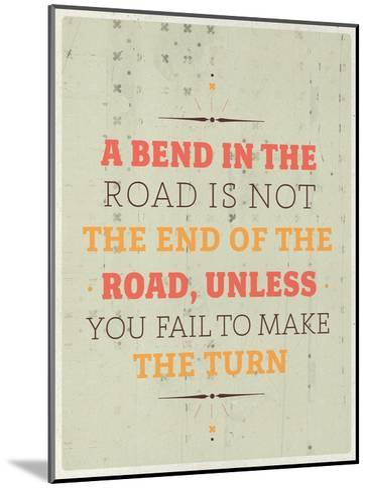 Bend in the Road-Maria Hernandez-Mounted Art Print