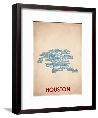 Houston--Framed Art Print