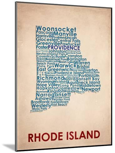 Rhode Island--Mounted Art Print