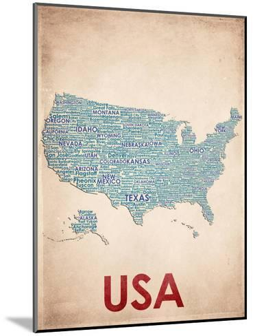USA--Mounted Art Print