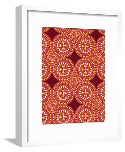 Tribal African Red Pattern-Patricia Pino-Framed Art Print
