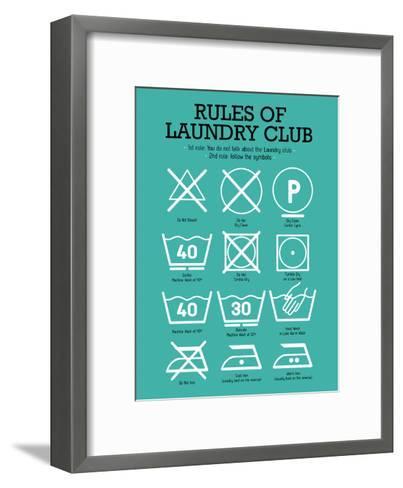 Laundry Club Teal-Patricia Pino-Framed Art Print