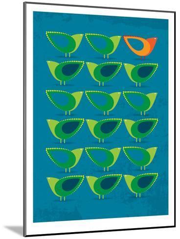 Birds Illustration III-Patricia Pino-Mounted Art Print