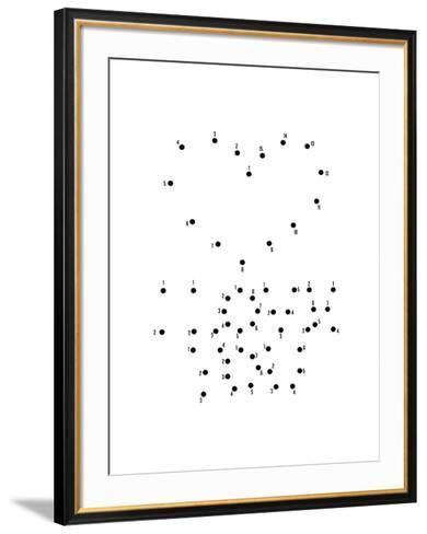 Love Connect the Dots I-Patricia Pino-Framed Art Print