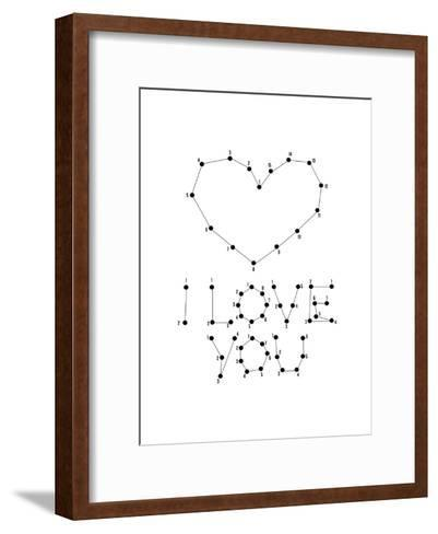 Love Connect the Dots II-Patricia Pino-Framed Art Print