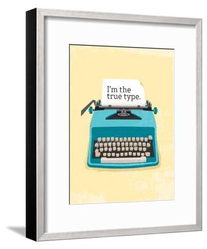 Typewriter-Patricia Pino-Framed Art Print