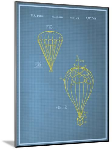 Parachute Blueprint--Mounted Art Print