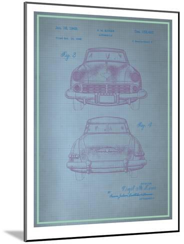 Studebaker Blueprint--Mounted Art Print