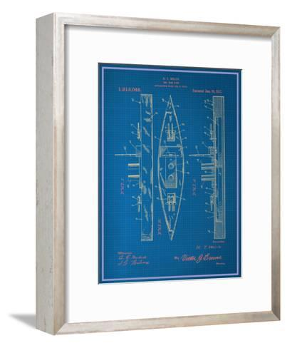 Toy Warship Blueprint--Framed Art Print