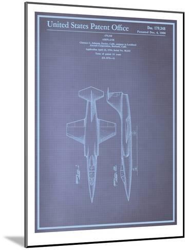 Airplane Blueprint--Mounted Art Print