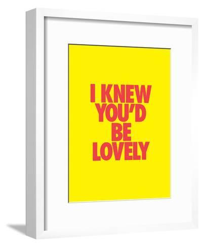 I Knew You'd Be Lovely-Brett Wilson-Framed Art Print