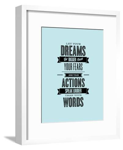Let Your Dreams Be Bigger-Brett Wilson-Framed Art Print